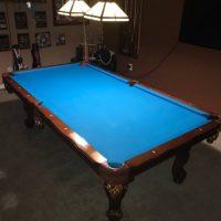Beautiful Bright Blue Felt 8' Pool Table