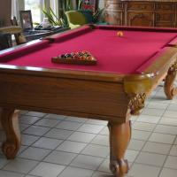 Pool Table, Connelly, Reg Size 8', Gold Oak