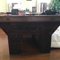 Antique Pool Table By Texas Pioneer Billiards Late 1800s Early 1900s