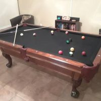 "Boessling 7'4"" X 4'1"" Pool Table With Accessories"