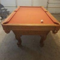Olhausen Orange Felt Pool Table