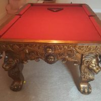 American Heritage Hand Carved Pool Table(SOLD)