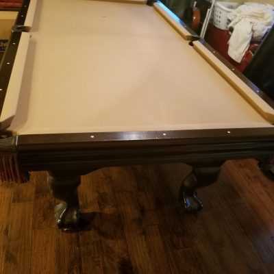 Beautiful 8' Ball and Claw Hardwood / Slate Pool Table with Accessories