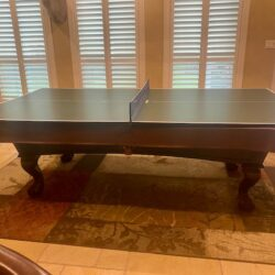 Fischer Pool Table with ping pong and wall unit for pool sticks