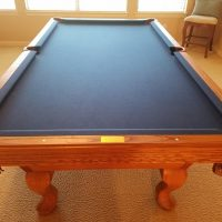 Olhausen slate top 8 foot pool table